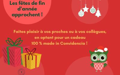 Les cadeaux de fin d'année 100% Convidencia !